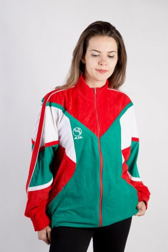 90s Retro Track Top Shell High Neck Red XL