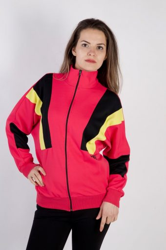 90s Retro Track Top Shell High Neck Pink M