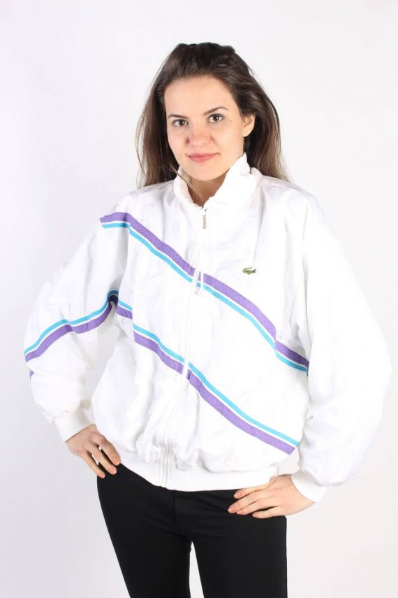 Vintage Lacoste Tracksuits Top Shell Sportswear L White -SW2330-0