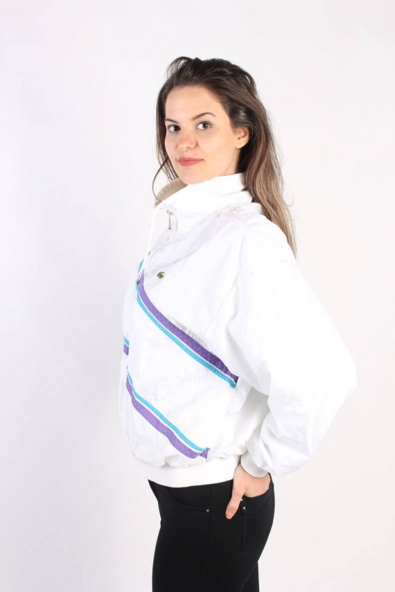 Vintage Lacoste Tracksuits Top Shell Sportswear L White -SW2330-106139