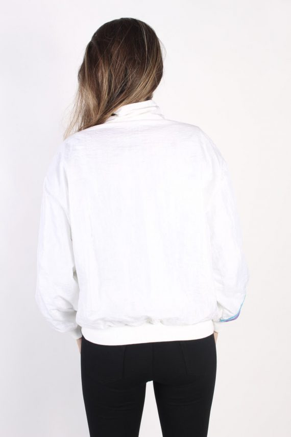 Vintage Lacoste Tracksuits Top Shell Sportswear L White -SW2330-106140