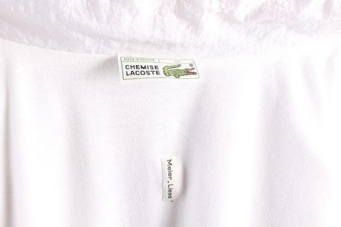 Vintage Lacoste Tracksuits Top Shell Sportswear L White -SW2330-106141