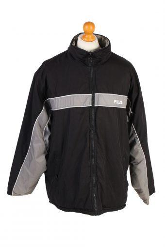 Vintage Reversible Puffer Coat Fila L Black