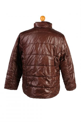 Vintage Reversible Padded Jacket Faded Glary L Brown -C1470-106848