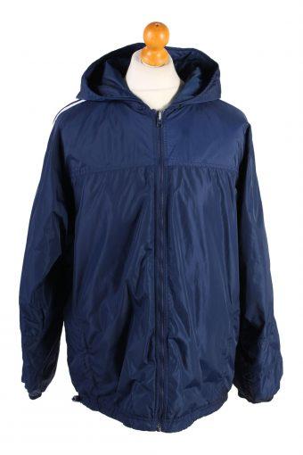 Vintage Reversible Puffer Coat Adidas L Navy