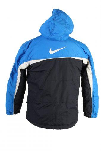 Vintage Reversible Padded Jacket Nike L Blue -C1472-106858