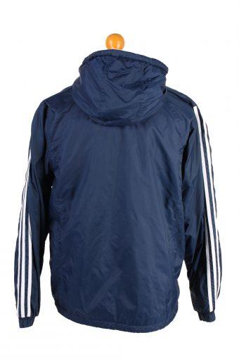 Vintage Reversible Puffer Coat Adidas M Blue -C1473-106863