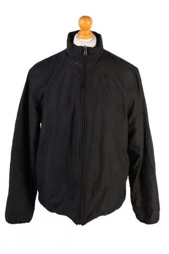 Vintage Champion Reversible Padded Jacket M Black