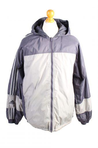 Vintage Adidas Reversible Puffer Coat M Grey