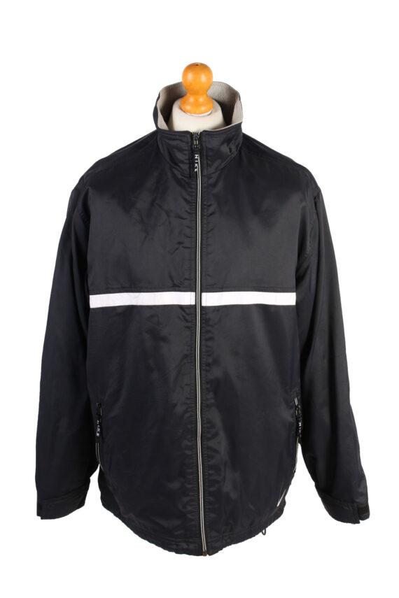 Vintage Air Sport Puffer Coat Nike M Black -C1477-0
