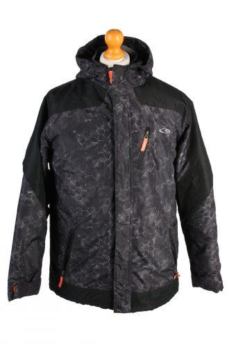 Vintage Champion Sport Puffer Coat XL Black