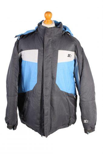 Vintage Starler Down Fill Puffer Coat L Blue