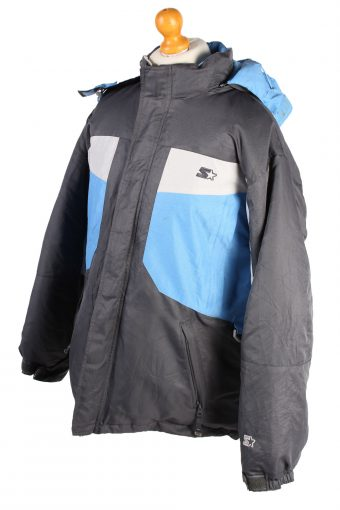 Vintage Starler Down Fill Puffer Coat L Blue -C1485-106905