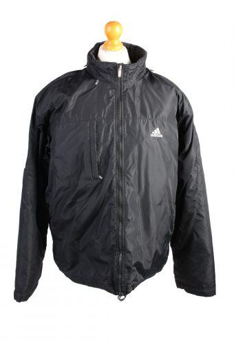 Vintage Adidas Pullover Puffer Coat L Black