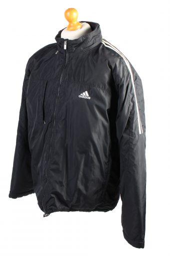 Vintage Adidas Pullover Puffer Coat L Black -C1486-106908