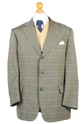 Burberry's Blazer Jacket Weingorten Houndstooth Green XL