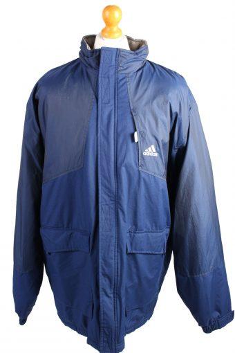Vintage Puffer Jacket Puffer Coat Adidas XXL Blue