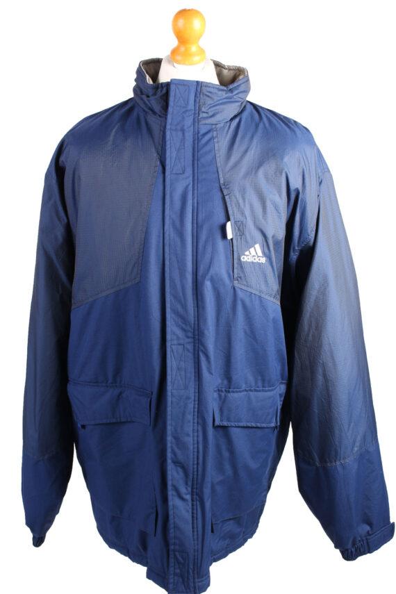 Vintage Puffer Jacket Puffer Coat Adidas XXL Blue -C1489-0