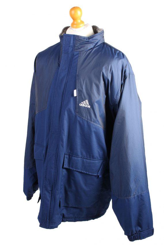 Vintage Puffer Jacket Puffer Coat Adidas XXL Blue -C1489-106930