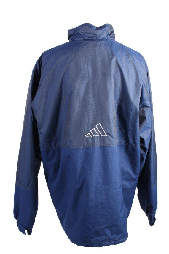 Vintage Puffer Jacket Puffer Coat Adidas XXL Blue -C1489-106931