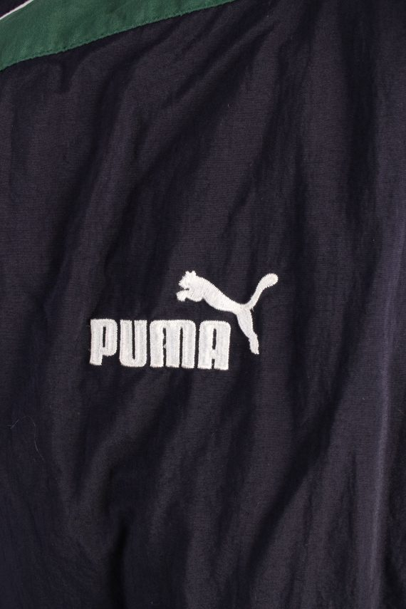 Vintage Puffer Jacket Padded Jacket Puma L Navy -C1492-106941