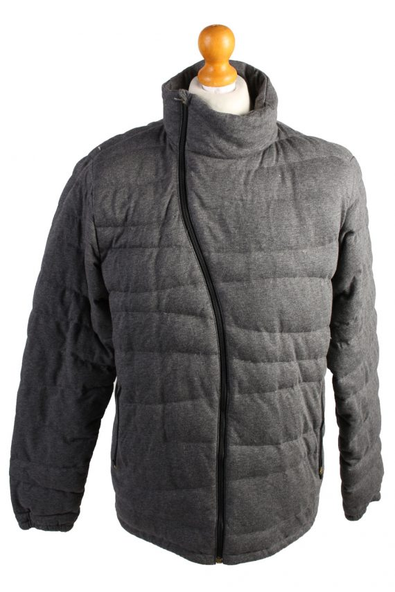 Vintage Champion Puffer Jacket Puffer Coat L Grey -C1495-0