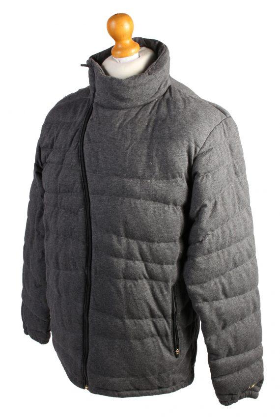 Vintage Champion Puffer Jacket Puffer Coat L Grey -C1495-107024