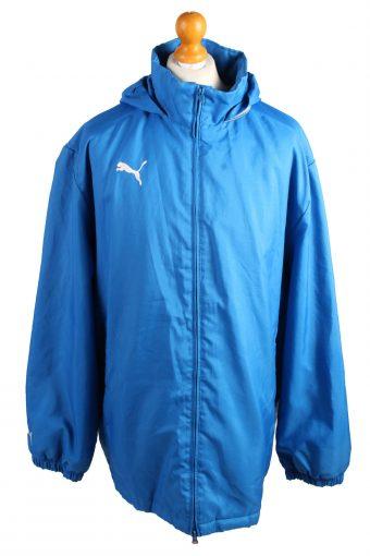 Vintage Puma Puffer Jacket Padded Jacket XL Blue