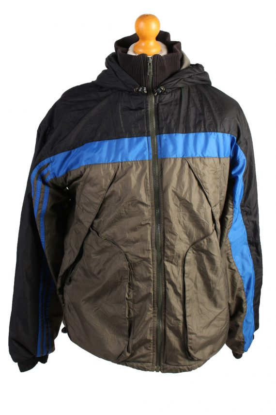 Vintage Adidas Puffer Jacket Puffer Coat S Khaki -C1506-0