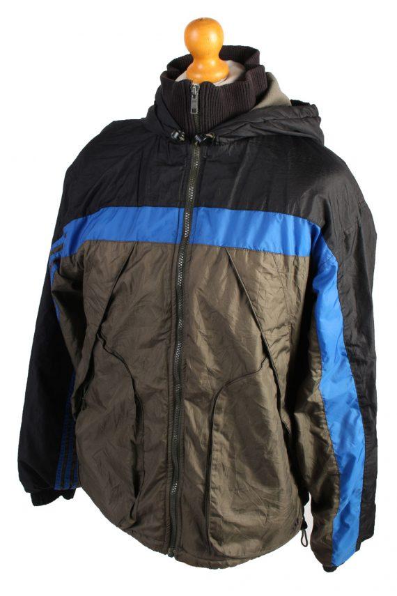Vintage Adidas Puffer Jacket Puffer Coat S Khaki -C1506-106957