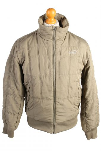 Vintage Puma Puffer Jacket Padded Jacket S Khaki