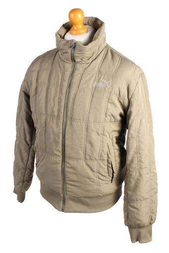 Vintage Puma Puffer Jacket Padded Jacket S Khaki -C1507-106960