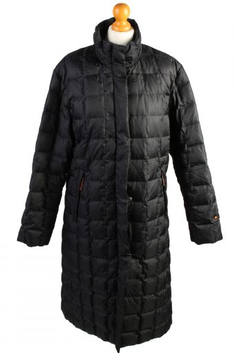 Vintage Ellesse Puffer Jacket Puffer Coat L Black