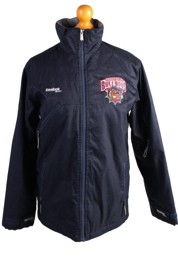 Vintage Reebok Puffer Jacket Puffer Coat XL Navy -C1515-0