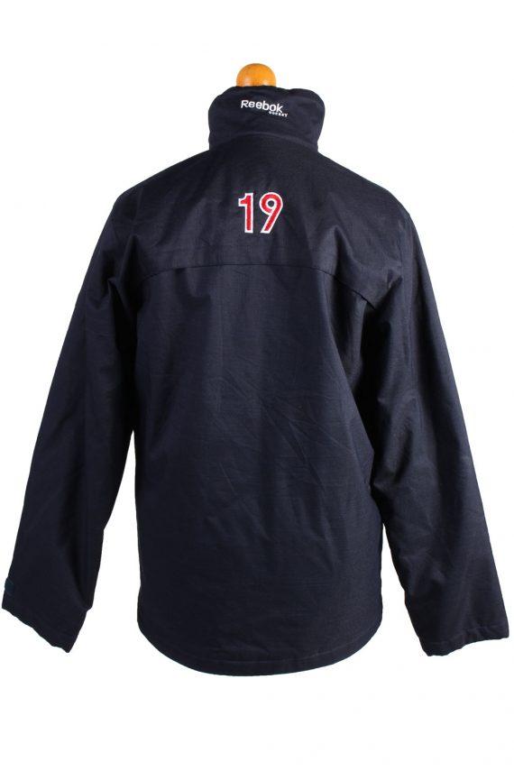 Vintage Reebok Puffer Jacket Puffer Coat XL Navy -C1515-106985
