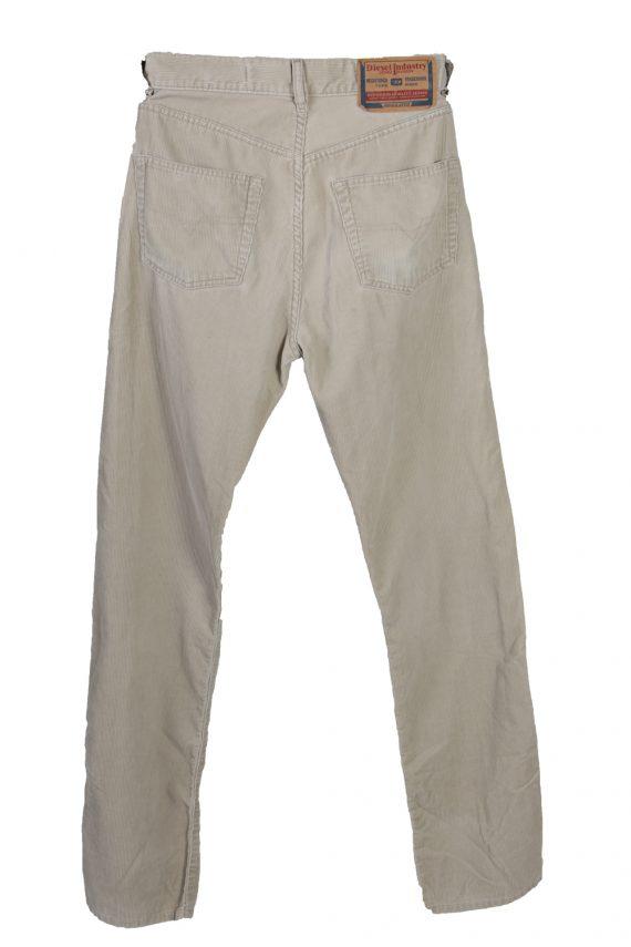 Vintage Diesel Regular Fit Corduroy Cord Jeans W25 L34 Beige J4117-107316