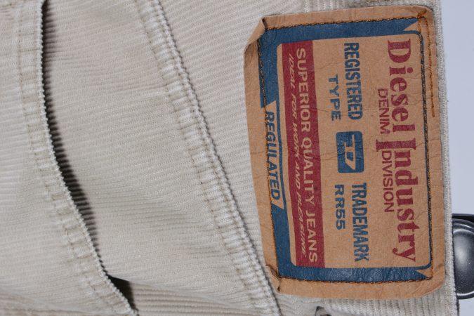 Vintage Diesel Regular Fit Corduroy Cord Jeans W25 L34 Beige J4117-107317
