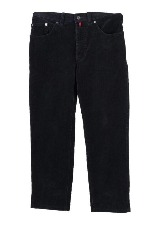 Vintage Pierre Cardin Stretch Fit Corduroy Denim Jeans W31 L32 Navy J4128-0