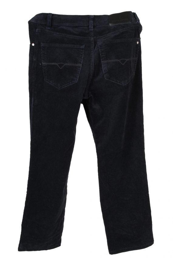Vintage Pierre Cardin Stretch Fit Corduroy Denim Jeans W31 L32 Navy J4128-107256