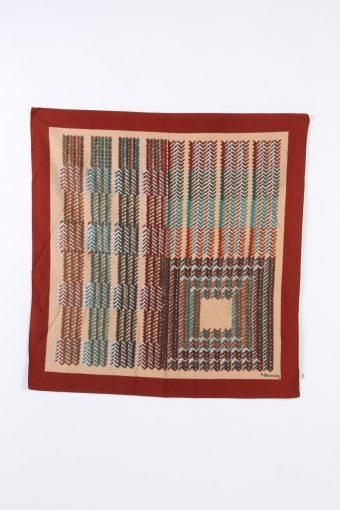 Vintage Scarf Paisley Printed Texture Festival Multi Colour FL017-109971