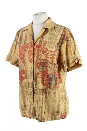 Vintage Blouses Summer Fashion Short Sleeve 42 Multi LB293-110006