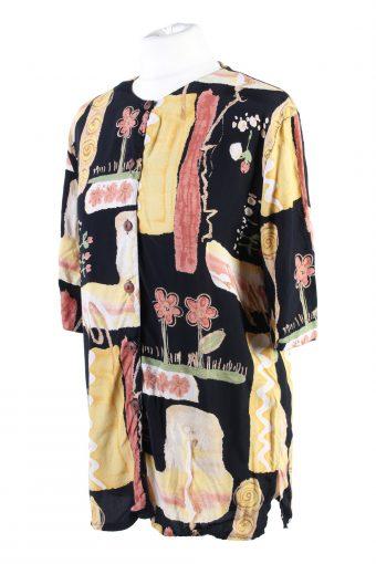 Vintage Fashion Summer Blouses Short Sleeve M Multi LB296-110018