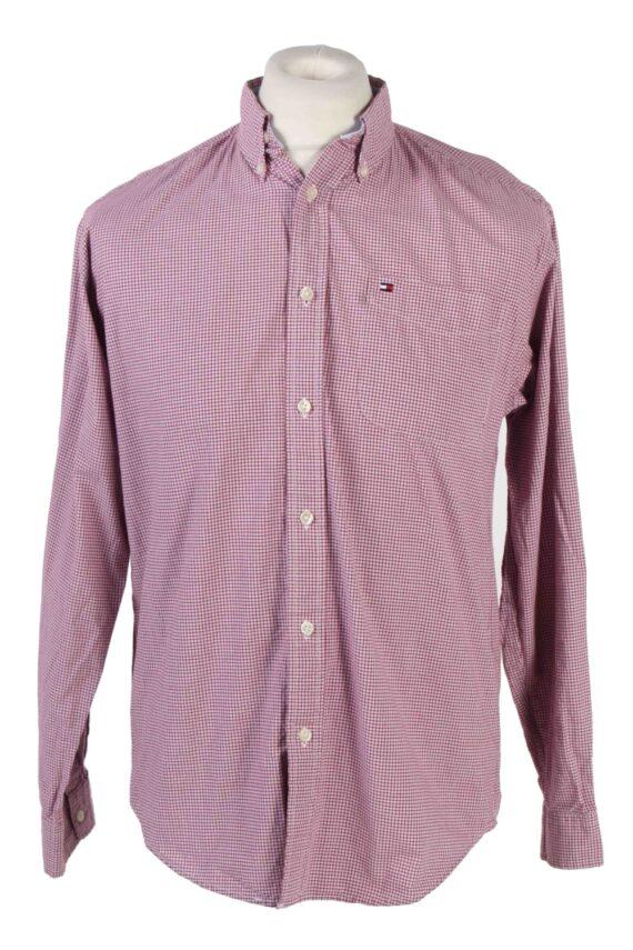 Tommy Hilfiger Long Sleeve Cotton Vintage Shirt M Blue - SH3702-0