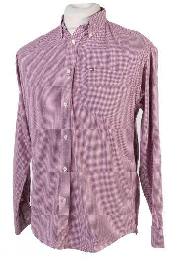 Tommy Hilfiger Long Sleeve Cotton Vintage Shirt M Blue - SH3702-109490