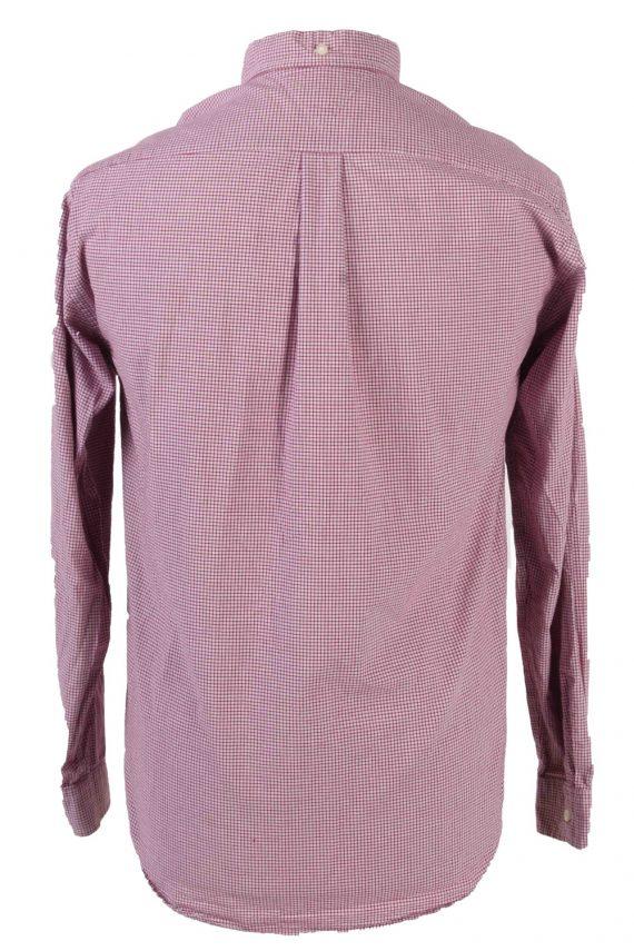 Tommy Hilfiger Long Sleeve Cotton Vintage Shirt M Blue - SH3702-109491