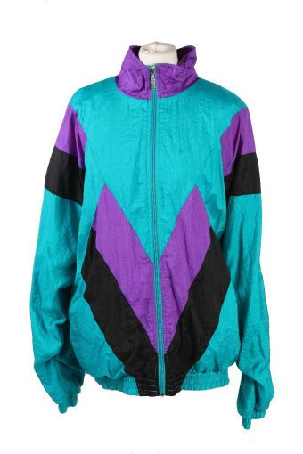 Rodeo Shell Track Top High Neck 80s Retro XL