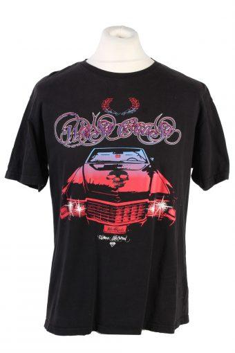Men T-Shirt 90s Retro Shirt Black XL