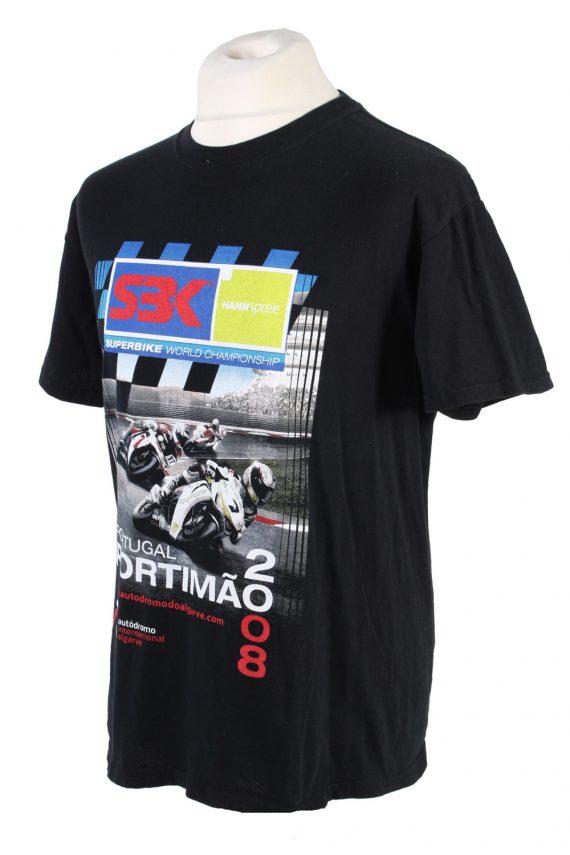 Vintage Autodrama International Retro T-Shirt M Black TS358-109575