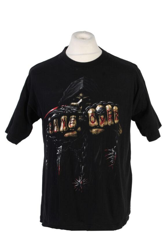 Vintage Fei Yang Game Over T-Shirt L Black TS359-0