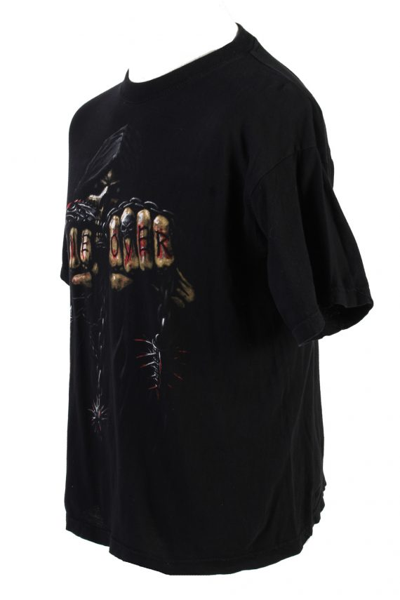 Vintage Fei Yang Game Over T-Shirt L Black TS359-109579